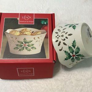 Lenox Holiday Pierced Small Bowl